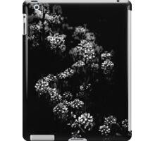 Backyard Flowers In Black And White 33 iPad Case/Skin
