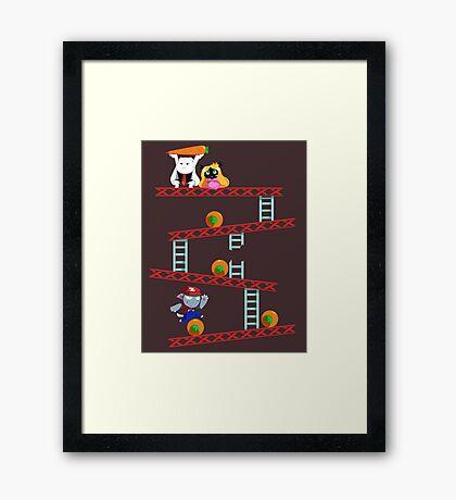 Carrot Kong Framed Print