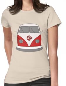 VW Splitwindow Kombi Front Womens Fitted T-Shirt