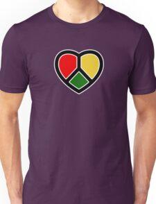 Rasta heart!  Unisex T-Shirt