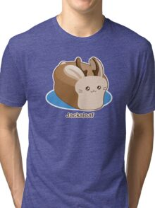 Cute Pun: Jackalope Bread Loaf Tri-blend T-Shirt