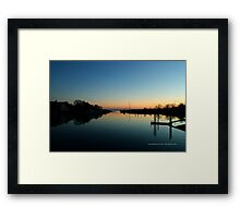 Evening View On Areskonk Creek From Sedgemere Road Bridge | Center Moriches, New York  Framed Print