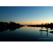 Evening View On Areskonk Creek From Sedgemere Road Bridge   Center Moriches, New York  Photographic Print