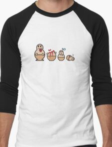 Cannibal Babushka Dolls Men's Baseball ¾ T-Shirt