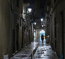 Wet and lonely night by Akcanzi