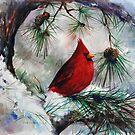 Winter Cardinal by Eva C. Crawford