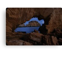 Ocean Peephole Canvas Print