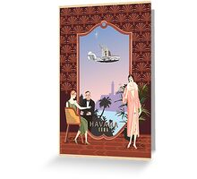 Art Deco Flying Boat - Havana, Cuba Greeting Card