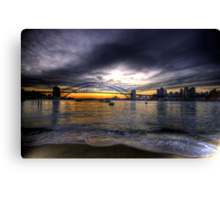 Moods Of A City - The HDR Series - Sydney Harbour, Sydney Australia Canvas Print