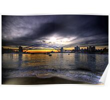 Moods Of A City - The HDR Series - Sydney Harbour, Sydney Australia Poster