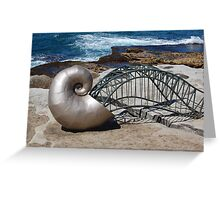 Sea Sculptures Greeting Card