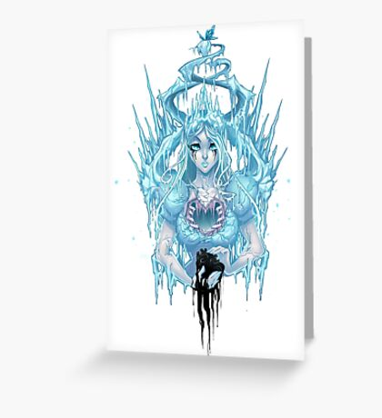 The Ice Queen (white) Greeting Card