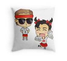Dick n' Matt Throw Pillow