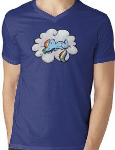Snoopy Dash Mens V-Neck T-Shirt