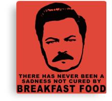 Ron Swanson- Breakfast Food Canvas Print