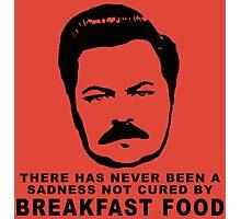 Ron Swanson- Breakfast Food Photographic Print