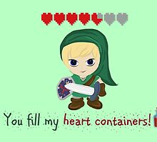 Zelda Valentines: You Fill my Heart Containers by Alice Edwards
