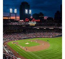 St. Louis Home of Baseball Fever Photographic Print