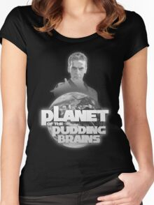 Doctor Who - Planet of the Pudding Brains Women's Fitted Scoop T-Shirt