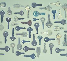 Vintage Key Collection by AineKendall