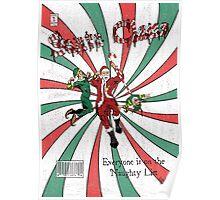 Evil Santa Claus Comic Cover Poster