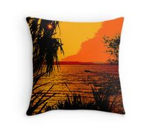 Indian River Sunset Throw Pillow