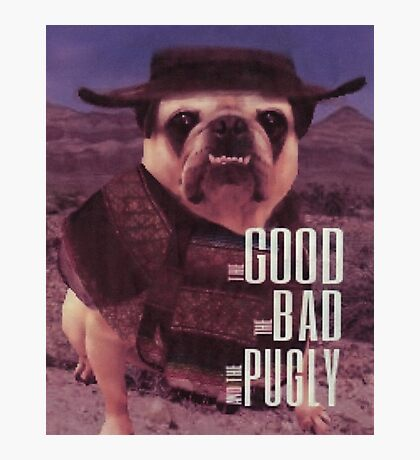 The Good, The Bad, and The Pugly Photographic Print