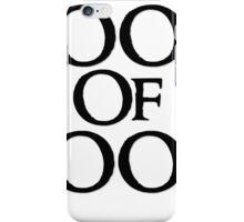 Tookish Fools Black iPhone Case/Skin