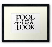 Tookish Fools Black Framed Print