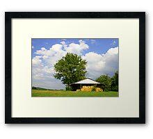 SUMMER DAY ON THE FARM Framed Print
