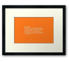 """Annyong"" Definition Framed Print"