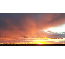 A Sunset Capture of Falling Rain Photographic Print