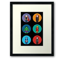 8Bit The Avengers Framed Print