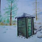 winter outhouse by mark rehburg