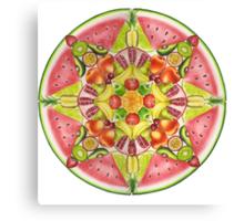 Fruit Mandala Canvas Print