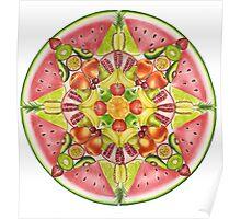 Fruit Mandala Poster