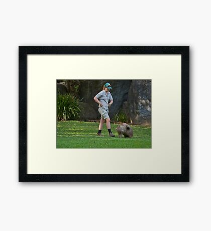 The Itch Framed Print