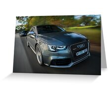 Audi RS5 and RS4 Greeting Card