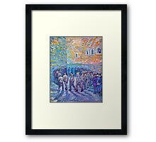 'Prisoners Walking The Round' by Vincent Van Gogh (Reproduction) Framed Print