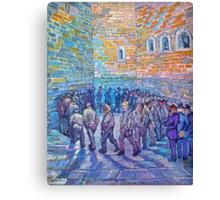 'Prisoners Walking The Round' by Vincent Van Gogh (Reproduction) Canvas Print