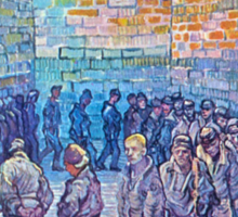 'Prisoners Walking The Round' by Vincent Van Gogh (Reproduction) Sticker