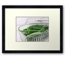 FRESH GREEN BEANS Framed Print