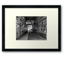 The Alley Framed Print