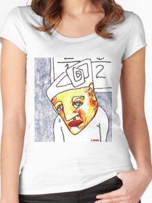 Crying Boy Women's Fitted Scoop T-Shirt