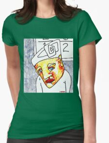 Crying Boy Womens Fitted T-Shirt