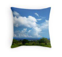 Tropical fields Throw Pillow