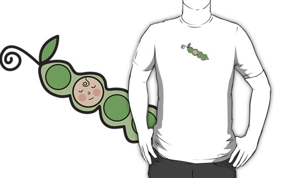 Baby Boy Pea in a Pod T-shirt by fatfatin