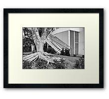 Silver Cityscape Framed Print