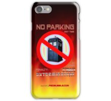 Dalek No Parking Sign Mk.2 iPhone Case/Skin