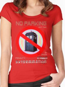 Dalek No Parking Sign Mk.2 Women's Fitted Scoop T-Shirt